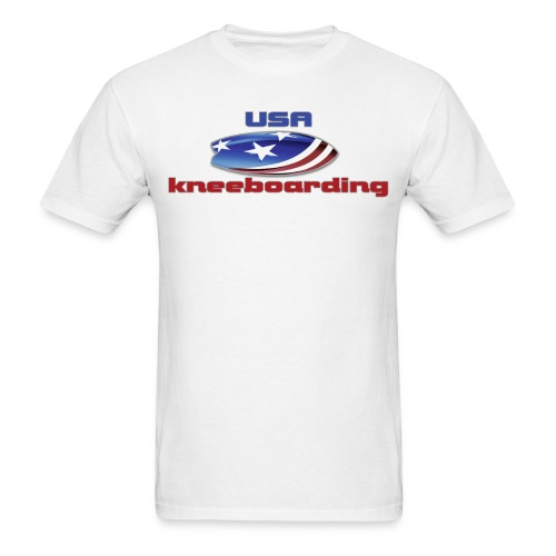 knee usa 2 png - Men's T-Shirt