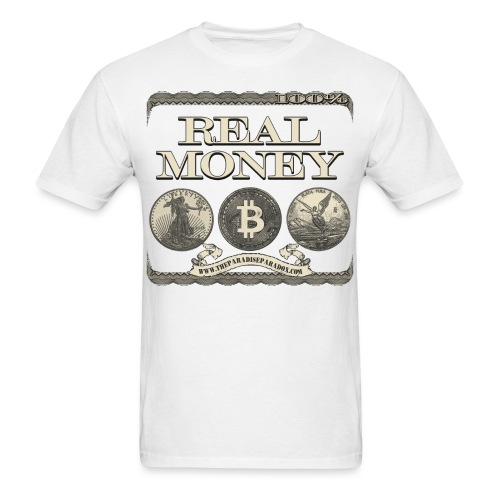 Real Money w border - Men's T-Shirt