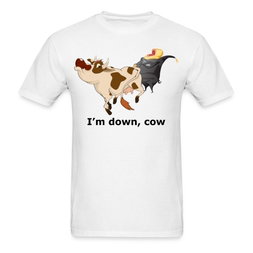 down cow - Men's T-Shirt