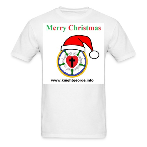 The Order of Knight George - Christmas Luther Rose - Men's T-Shirt