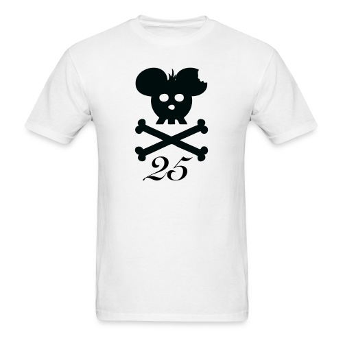 25logo black front - Men's T-Shirt