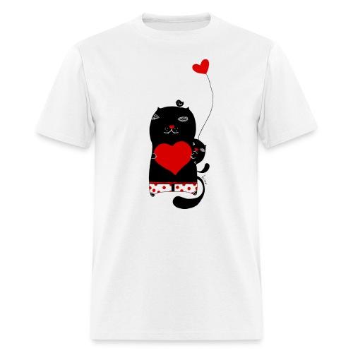 Cats w Hearts Kristina S - Men's T-Shirt