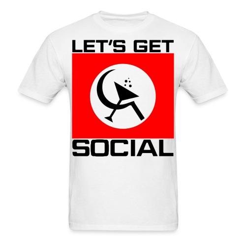 Let's Get Social as worn by Axl Rose - Men's T-Shirt
