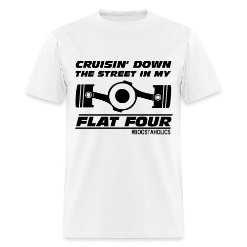 Boostaholics Flat4 black - Men's T-Shirt
