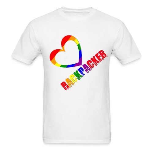 Gaybackpacker png - Men's T-Shirt
