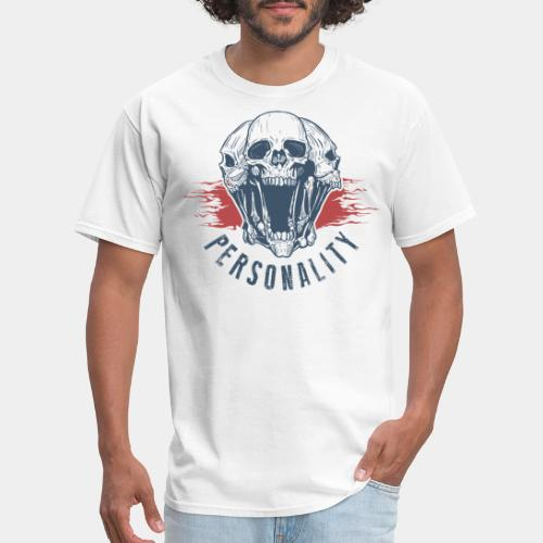 personality yourself skull - Men's T-Shirt