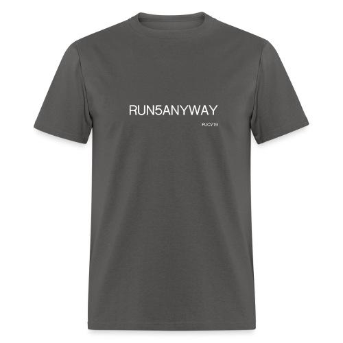 run/bike/walk 5, white font - Men's T-Shirt