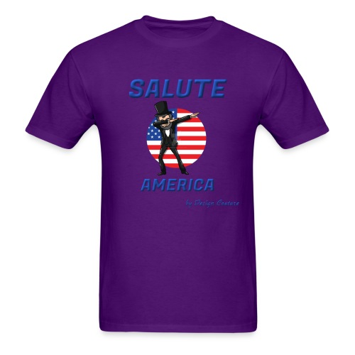 SALUTE AMERICA BLUE - Men's T-Shirt