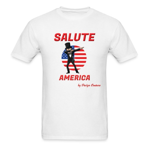 SALUTE AMERICA RED - Men's T-Shirt