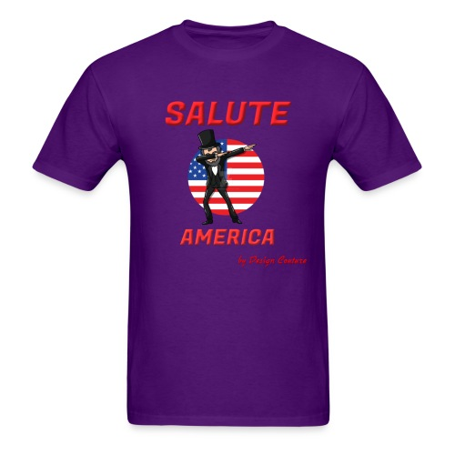 SALUTE AMERICA RED - Men's T-Shirt