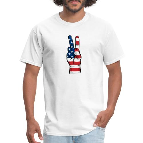 hand peace sign USA T small - Men's T-Shirt