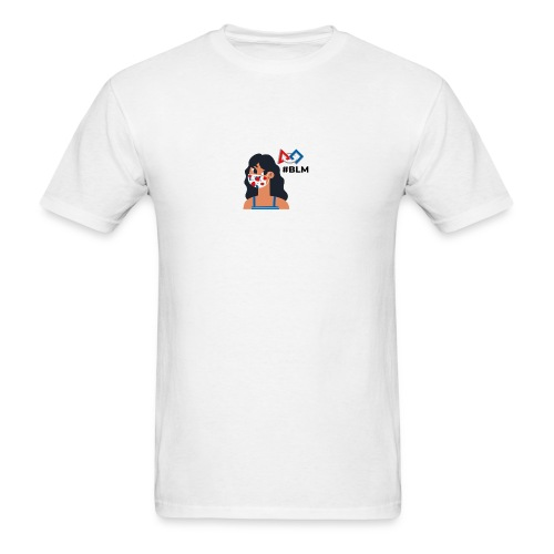 #BLM FIRST Girl Supporter - Men's T-Shirt