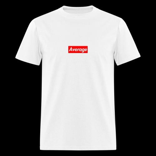 Average Supreme Logo Mockup - Men's T-Shirt
