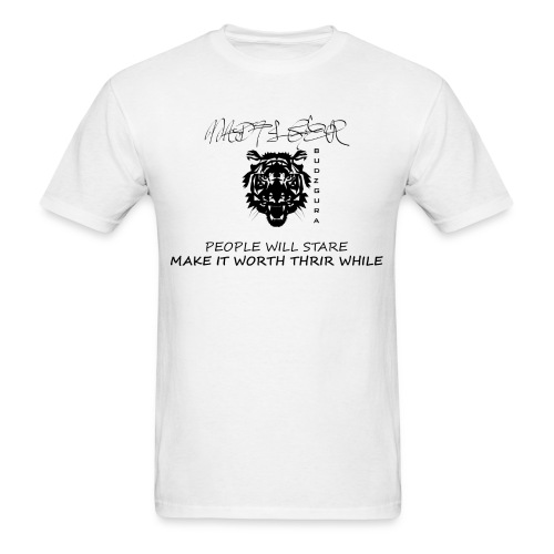MAD TIGER BLACK AND WHITE - Men's T-Shirt