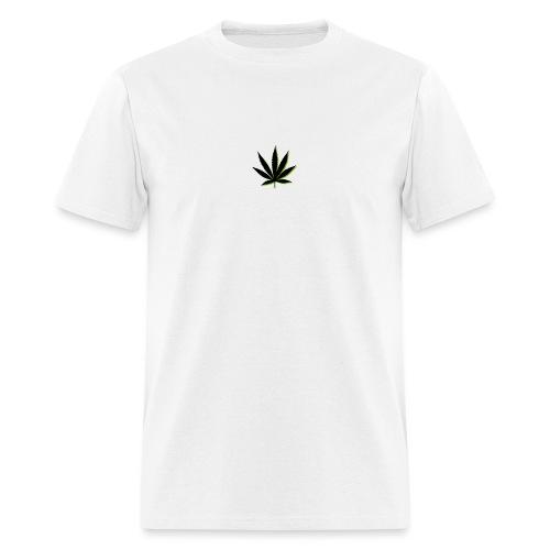 weed symbol drawing leaf - Men's T-Shirt