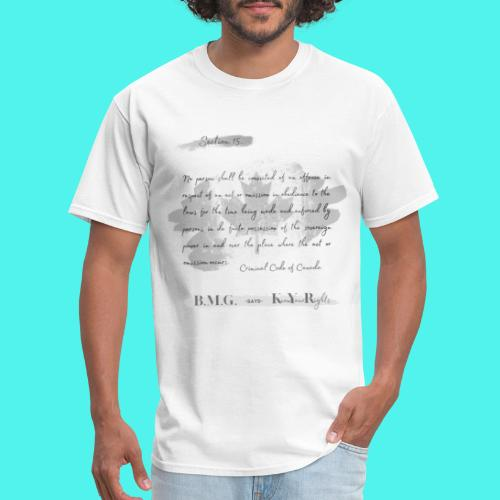 Section15 Criminal Code of Canada - Men's T-Shirt