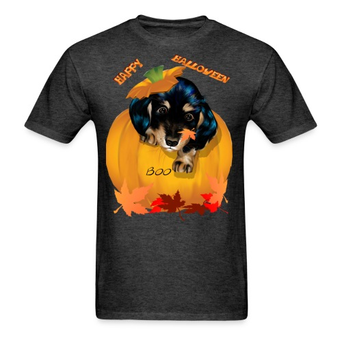 Halloween Dashund Puppy-Boo - Men's T-Shirt