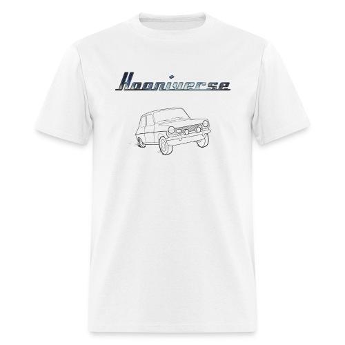 Clean Hooniverse Logo with Car - Men's T-Shirt