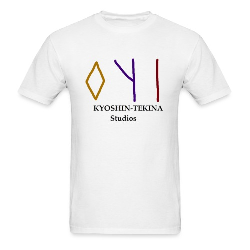 Kyoshin-Tekina Studios logo (black test) - Men's T-Shirt