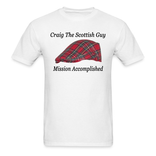 Red Tartan Hat - Men's T-Shirt