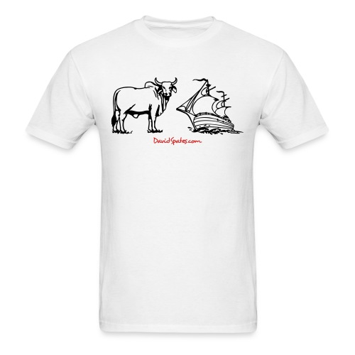 bullship outline - Men's T-Shirt