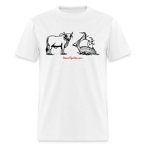 bullship outline - Men's T-Shirt