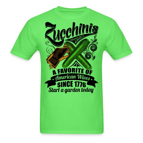 Zucchinis_PrintBlack - Men's T-Shirt