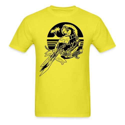 Tropical Parrot - Men's T-Shirt