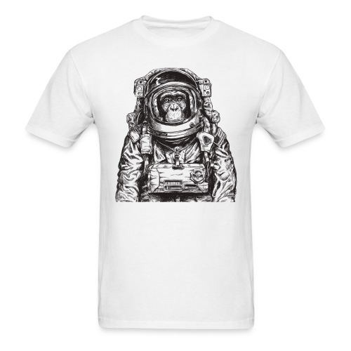 Monkey Astronaut - Men's T-Shirt