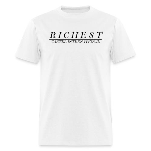 fancy font black - Men's T-Shirt