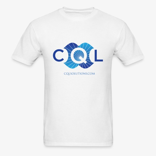 CQL Large Logo Float w URL - Men's T-Shirt