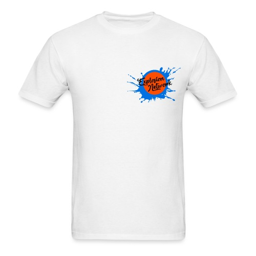 White Explosion Network Pocket Tee - Men's T-Shirt