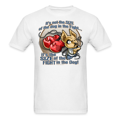Dog in fight by RollinLow - Men's T-Shirt