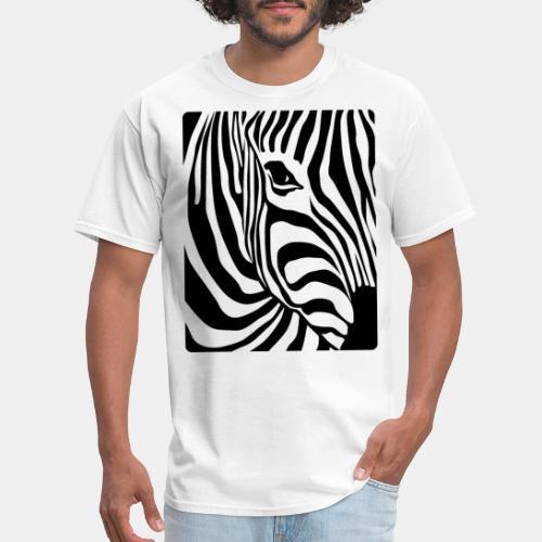 zebra black white - Men's T-Shirt