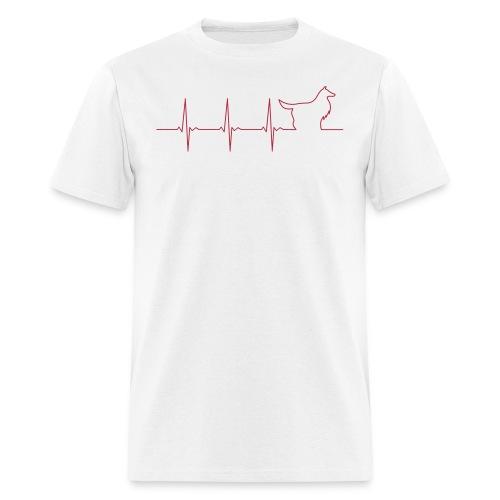 Heart Collie - Men's T-Shirt