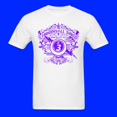 Vintage Cannonball Bingo Crest Purple - Men's T-Shirt