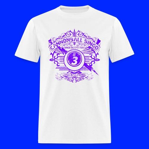 Vintage Cannonball Bingo Crest Purple - Men's T-Shirt