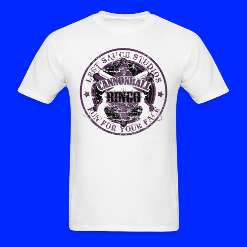 Vintage Cannonball Bingo Badge All Purple - Men's T-Shirt
