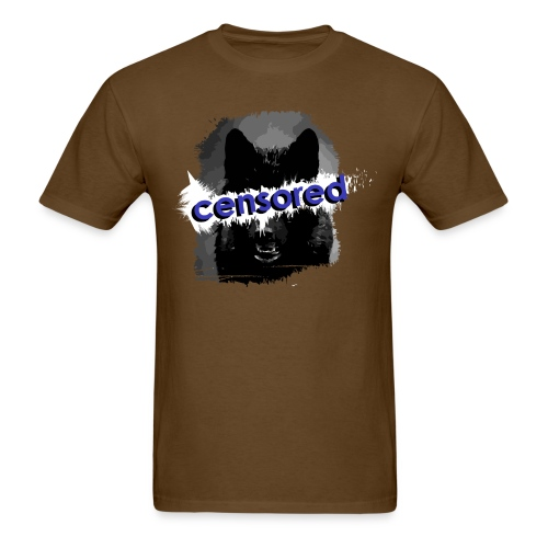 Wolf censored - Men's T-Shirt