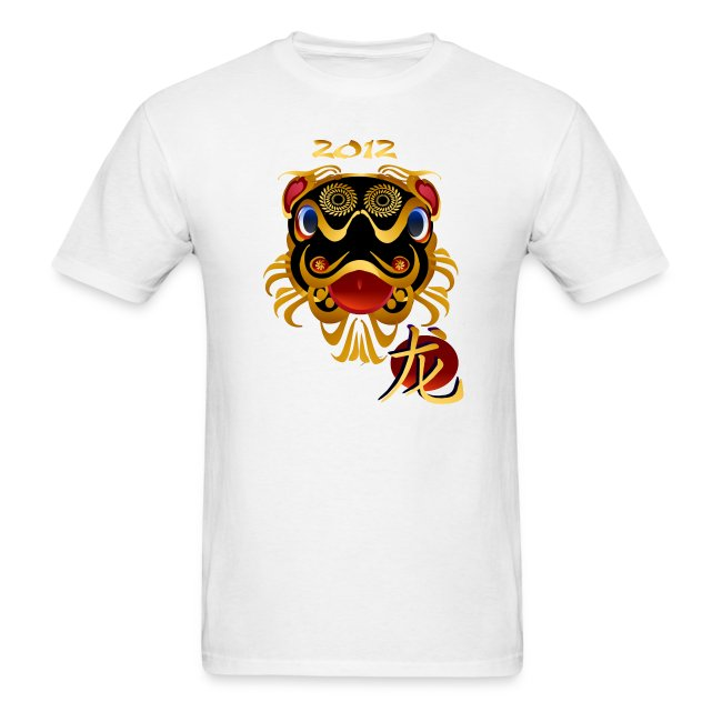 2012 Black 'n Gold Chinese Dragon Face
