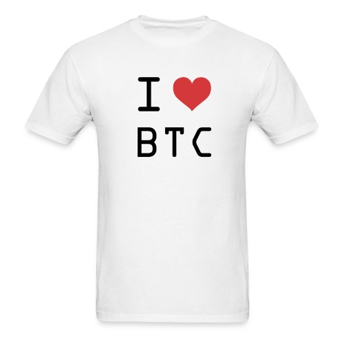I HEART BTC (Bitcoin) - Men's T-Shirt