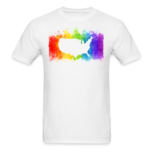Pride Rainbow Map USA - Men's T-Shirt