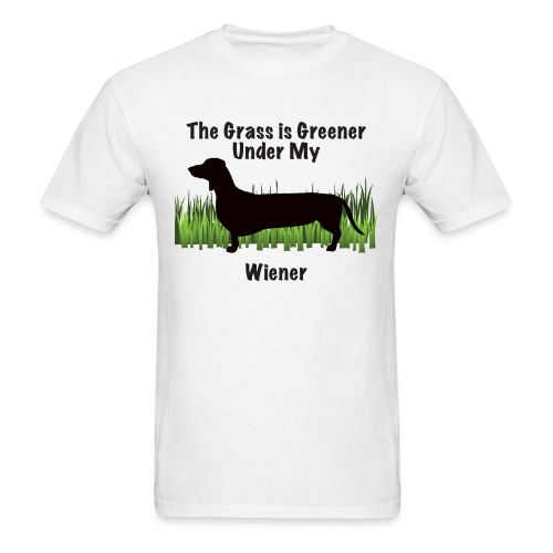 Wiener Greener Dachshund - Men's T-Shirt
