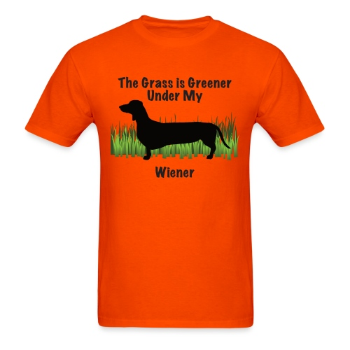 Wiener Greener Dachshund - Men's T-Shirt