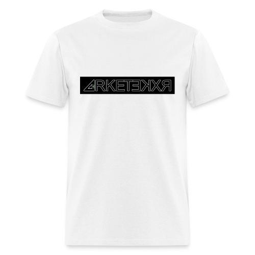 ARKETEKXR - Letter Print Logo Black Invert - Men's T-Shirt