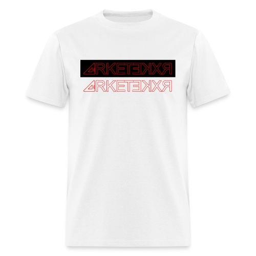 ARKETEKXR - Double Logo Letter Print Red - Men's T-Shirt