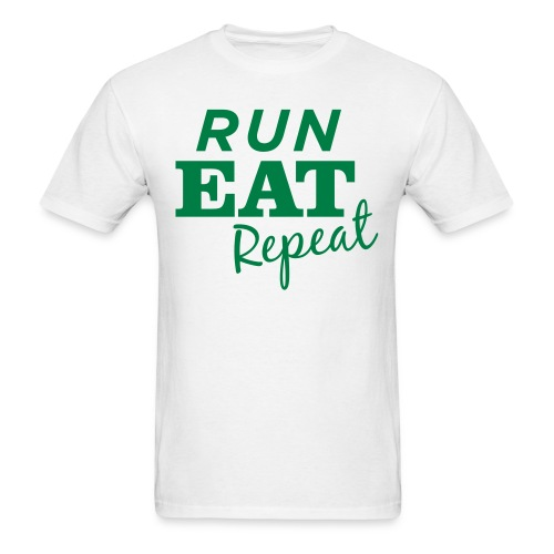 Run Eat Repeat buttons medium - Men's T-Shirt