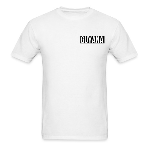 Guyana Heart BlackBG png - Men's T-Shirt