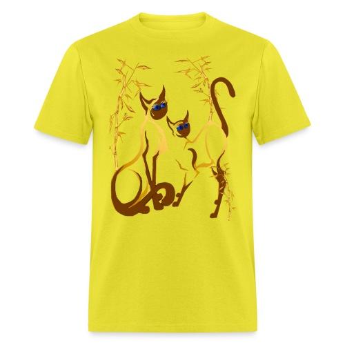 Two gold Siamese Kitties - Men's T-Shirt