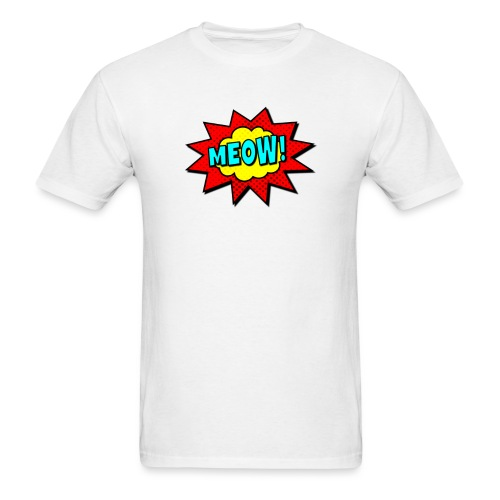 pop art meow - Men's T-Shirt